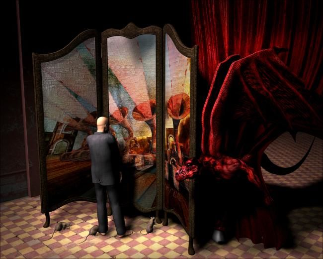"""Painting titled """"Another Utopia"""" by Don Bergland, Original Art,"""