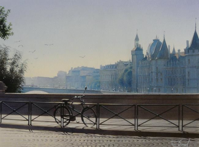 la bicyclette et le pont neuf thierry duval. Black Bedroom Furniture Sets. Home Design Ideas