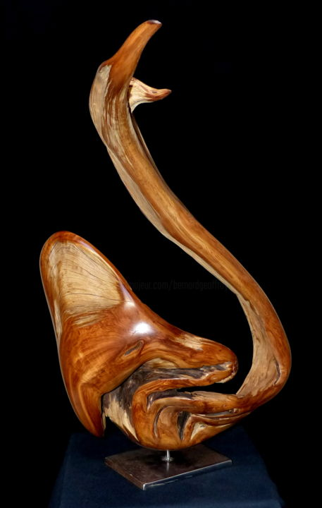 Cygne II - © 2019 sculpture bois, animalier Online Artworks