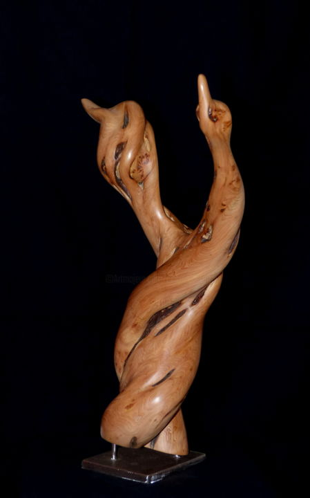 Sculpture, wood, artwork by Bernard Geoffroy