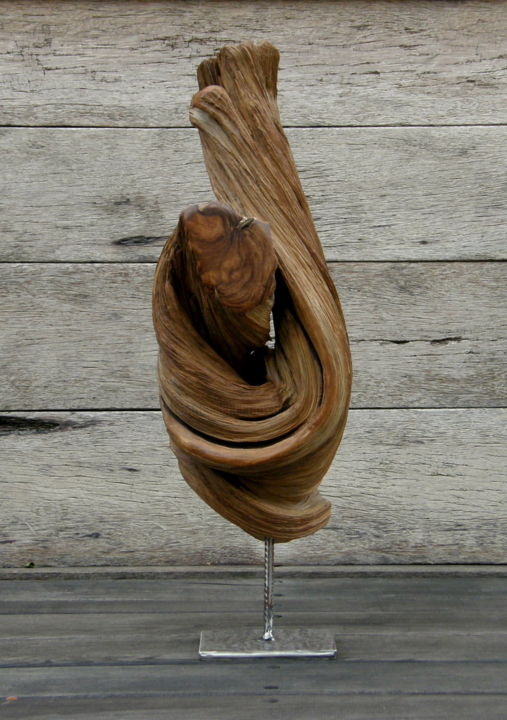Volute - Sculpture ©2013 by BERNARD GEOFFROY -                        Wood