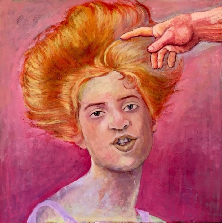 """Painting titled """"Creation of Hair"""" by Bert Lepel, Original Art, Acrylic"""