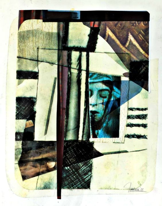 morfil Medicolégal VI - Collages,  19.7x15.8 in, ©2003 by Bertrand TARDIEU -                                                                                                                          Abstract, abstract-570