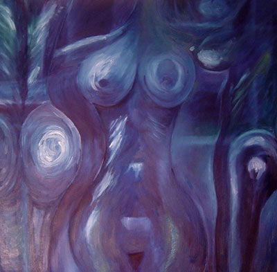 Songe bleu - Painting ©2002 by Bertrand Duval -