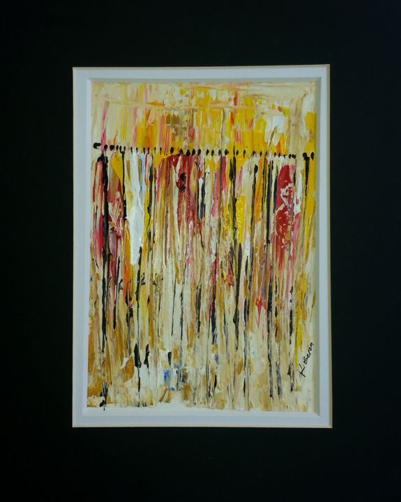 """Painting titled """"movement in accra"""" by Joseph Kwaw Besoabewie, Original Art,"""