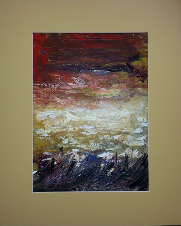 """Painting titled """"sea never dry"""" by Joseph Kwaw Besoabewie, Original Art,"""