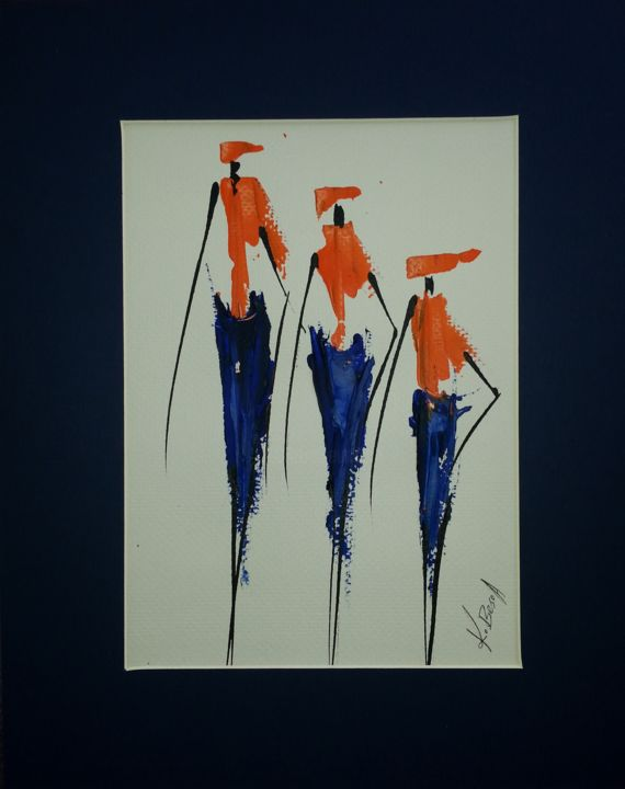 """Painting titled """"family"""" by Joseph Kwaw Besoabewie, Original Art,"""