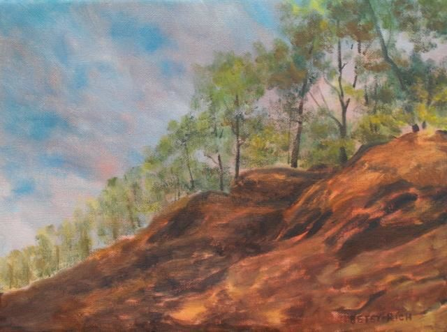 """Painting titled """"Ledges On The Airli…"""" by Betsy Rich, Original Art, Oil"""