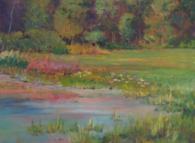 """Painting titled """"Edge Of The Farm Po…"""" by Betsy Rich, Original Art, Oil"""
