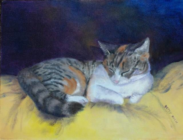 """Painting titled """"Hobo Napping"""" by Betsy Rich, Original Art, Oil"""