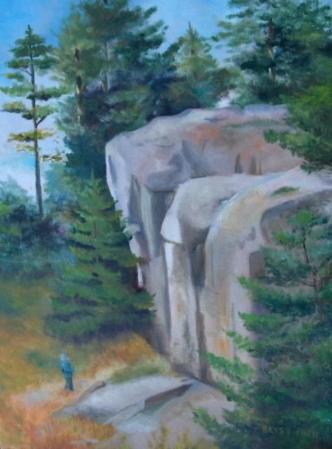 """Painting titled """"Rock Outcrop On Mon…"""" by Betsy Rich, Original Art, Oil"""