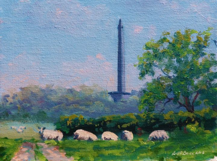 Wellington Summer Somerset - Painting,  8x10 in, ©2013 by BILL O'BRIEN -                                                                                                                                                                                                                                                                  Figurative, figurative-594, Wellington, Summer, Somerset