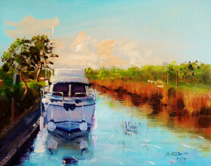 Cruiser on the Shannon Lough Ree - ©  shannon, cruiser, boats, lough ree, ireland, lake Online Artworks