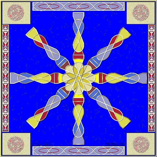 Infinity Knot - Painting,  8x10 in, ©2008 by Birdman -                                                              Celtic knot Celts Irish ancient art flowers cross religion Pagan pagan
