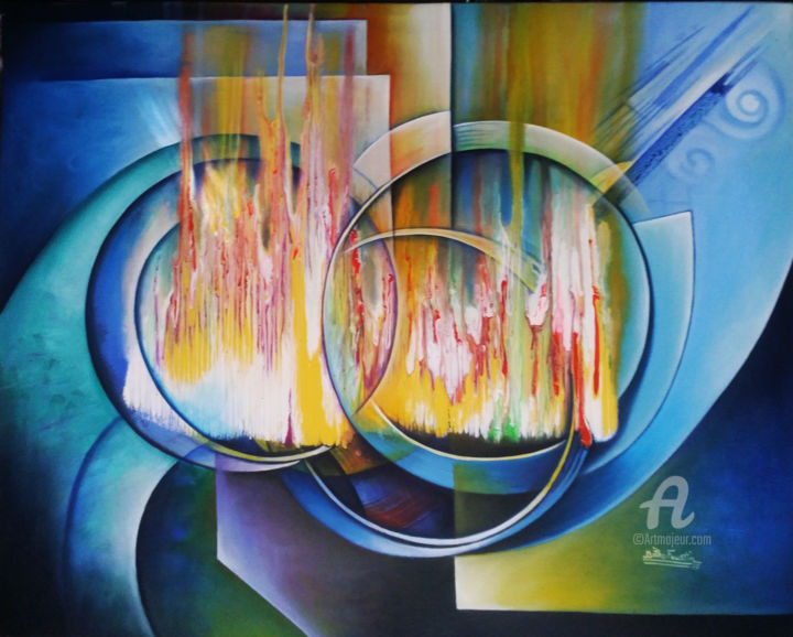 """Painting titled """"La Luxure"""" by Bitho Faustin, Original Art,"""