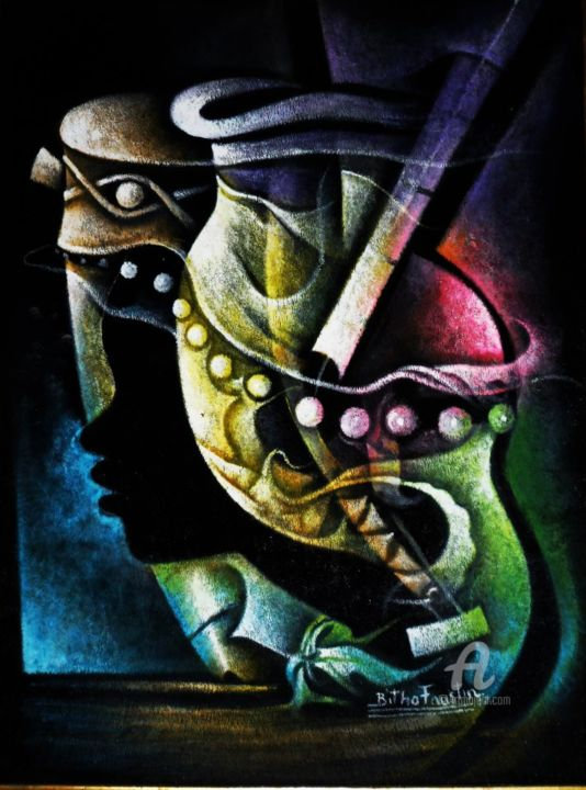"""Painting titled """"67012-5274326973087…"""" by Bitho Faustin, Original Art,"""