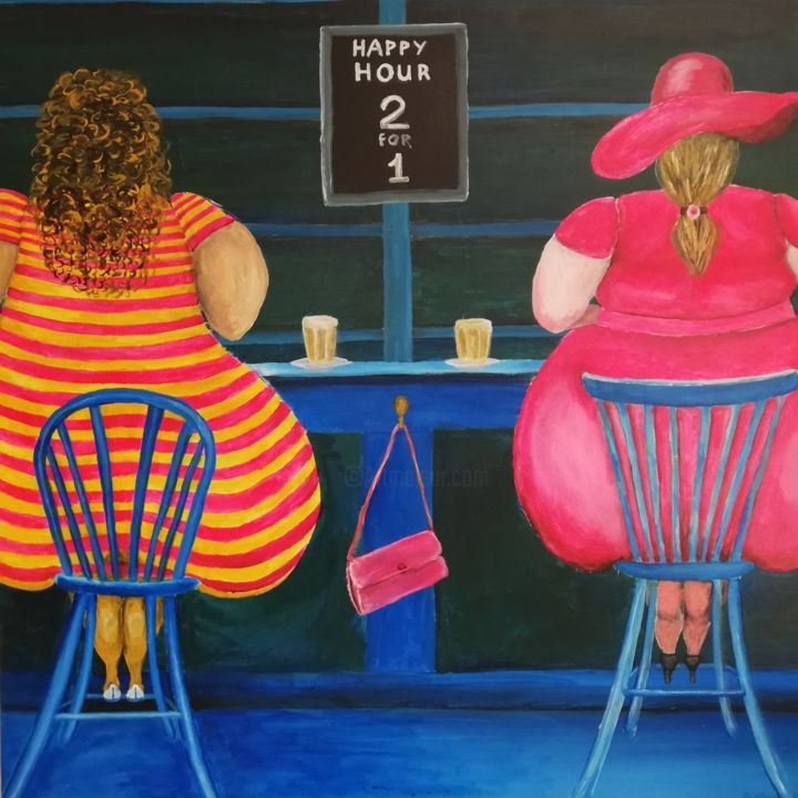 """Painting titled """"2 FOR 1"""" by Bjarne Kyed, Original Art, Acrylic"""