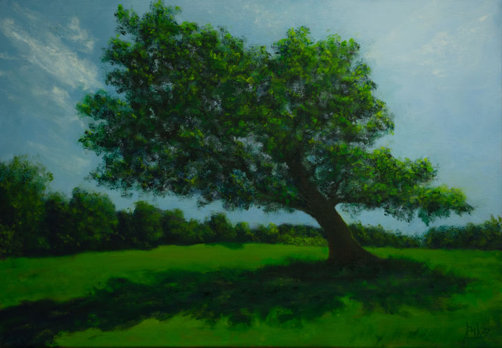 """Painting titled """"Not just a """"tree"""""""" by Adrian Blag, Original Art, Oil Mounted on Stretcher frame"""