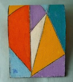 POCHETTE DIPINTA DOUBLE-FACE 2 - Painting,  10x8 cm ©2011 by MTB -