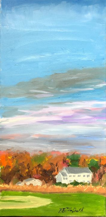 """Painting titled """"The View Behind Wor…"""" by Blandine Broomfield, Original Art, Oil"""