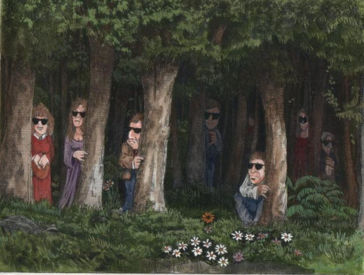 """Painting titled """"People Who Live on…"""" by Bruce Macdonald, Original Art,"""