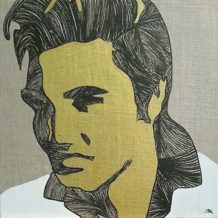 Elvis The King Painting By Mbl Artmajeur