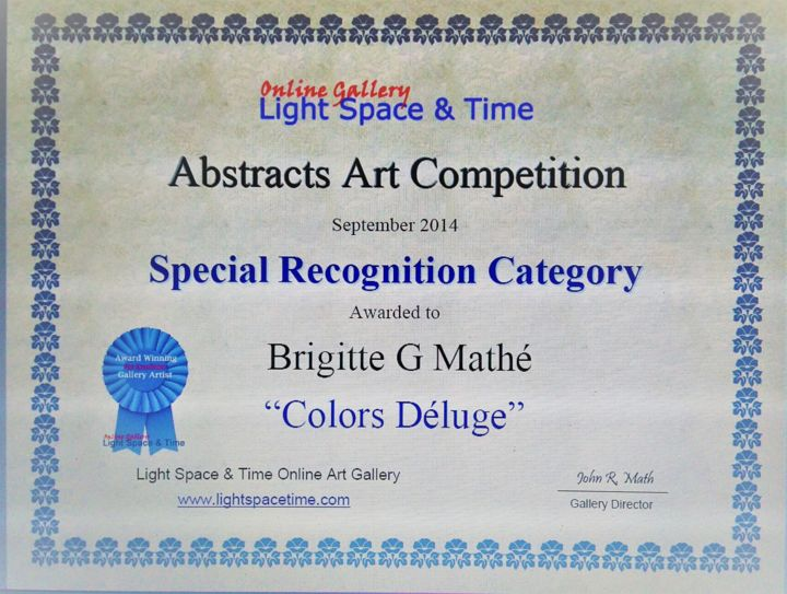 Abstract Art Competition Special Recognition - ©   Œuvres-d'art en ligne