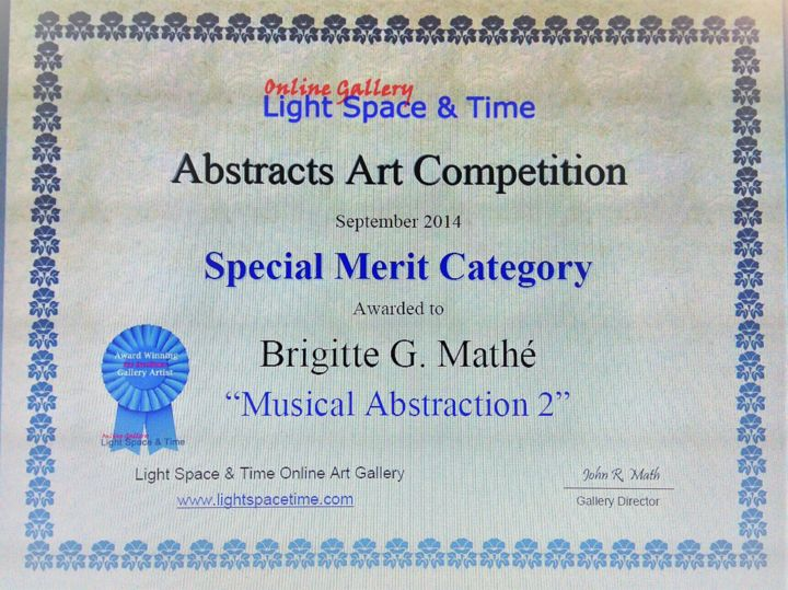 Abstract Art Competition Special Merit - ©   Œuvres-d'art en ligne