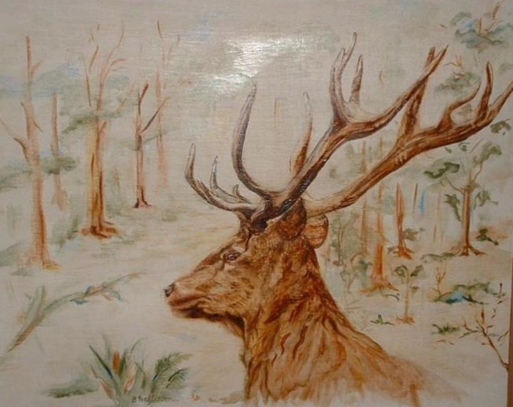 cerf - Painting, ©2006 by Ster -                                                              cerf