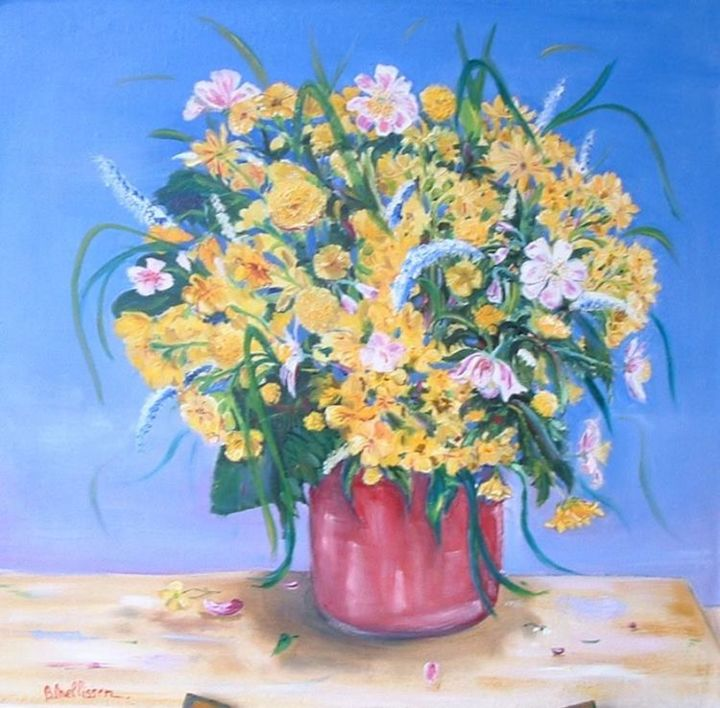 bouquet - Painting, ©2002 by Ster -