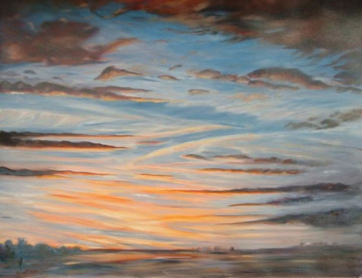 ciel - Painting,  19.7x25.6 in, ©2006 by Ster -
