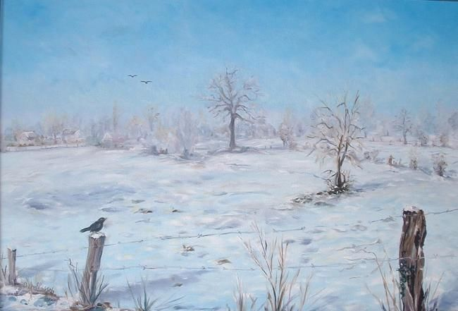 neige dans la campagne - Painting, ©2009 by Ster -