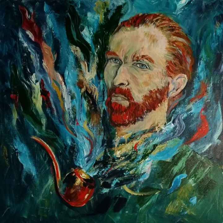 la pipe - © 2015 vincent Van Gogh, pipe, portrait Online Artworks