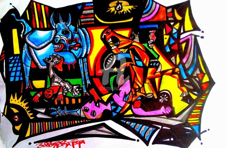 """Painting titled """"11297102-1020545338…"""" by Bobby Bautista, Original Art,"""