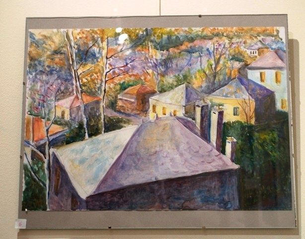 """Painting titled """"landscape in Pilio"""" by Nickolas Sechas, Original Art,"""