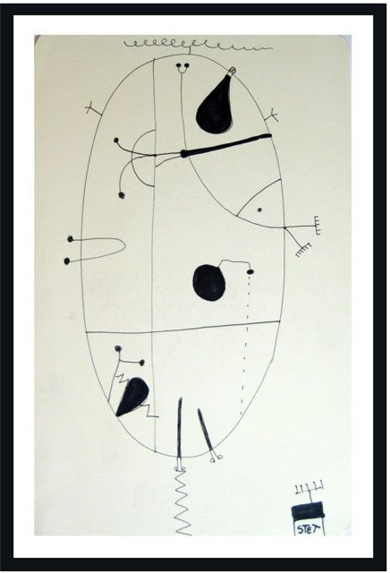 """Drawing titled """"Abstract 2"""" by Bogdan Stet, Original Art,"""