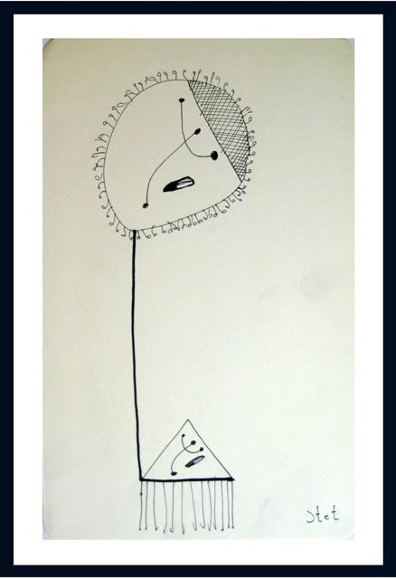 """Drawing titled """"Abstract 3"""" by Bogdan Stet, Original Art,"""