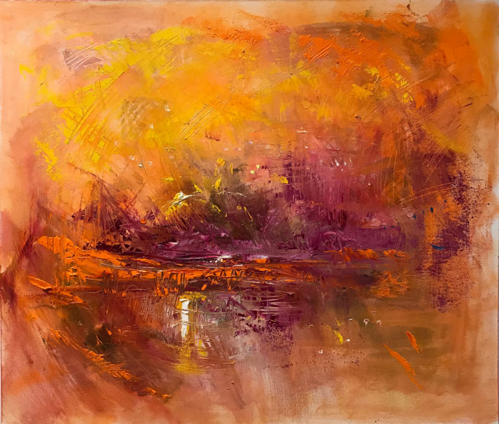 Vietnam. View of Vinperl Land - Painting,  60x70 cm ©2018 by sergey samarin -                                        Contemporary painting, Travel