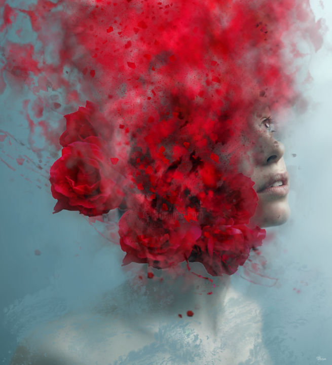 """Photography titled """"Falling in love"""" by Bojan Jevtic, Original Art, Manipulated Photography"""