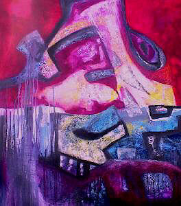 Wasted Passion - Painting ©2001 by Martha Elisa Bojórquez -                        Expressionism