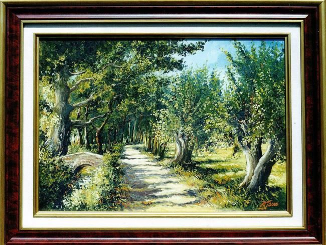 Vaugrenier - Painting,  10.6x16.1 in, ©2007 by Marcel Boos -
