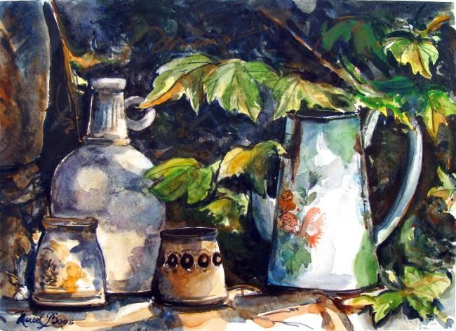 Pots 2 - Painting,  38x28 cm ©2008 by Marcel Boos -