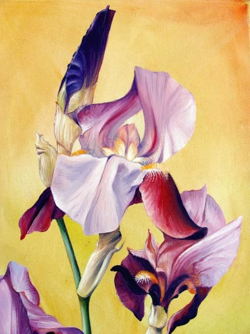Grand Iris (détail) - Painting, ©2008 by Marcel Boos -