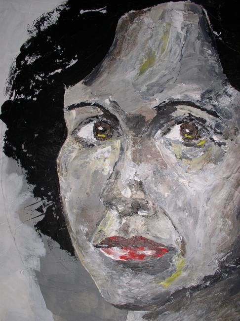 """Painting titled """"VISAGE"""" by Thierry Bonte, Original Art,"""