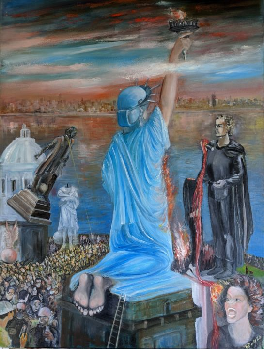 """Painting titled """"Liberty: Gone with…"""" by Boris Deriy, Original Art, Oil"""