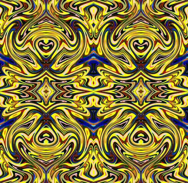 The gold tapestry - Arte digitale, ©2019 da Peter Jalesh -                                                                                                                                                                                                                          Abstract, abstract-570, Arte astratta, gold and black