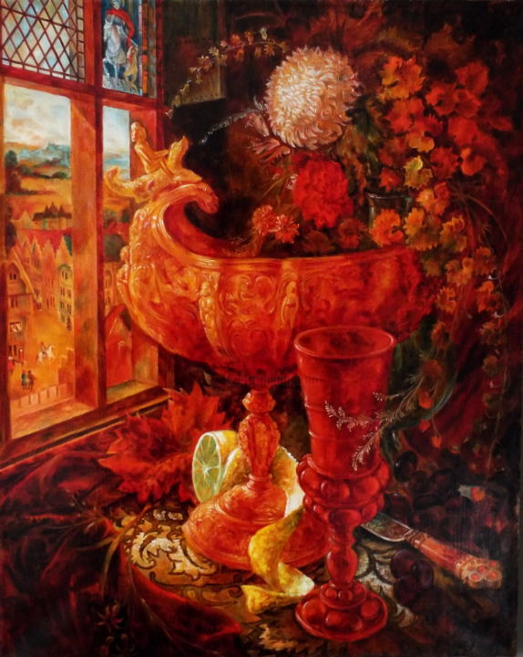 """Painting titled """"Copy of painting in…"""" by Ab.Art.Zair, Original Art, Oil"""