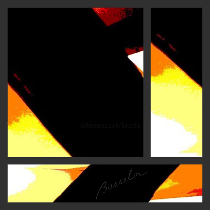 vrai luxe - Digital Arts,  15.8x15.8 in ©2007 by Bosselin -                                                                    Abstract Art, Interiors, Light, Home, fenetre, velux, sous pente, toit, composition