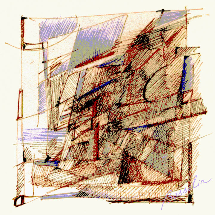 CCVMVJ Glagau - Digital Arts ©2004 by Bosselin -                                                        Abstract Art, Architecture, Abstract Art, maquette, vitrail, dessin