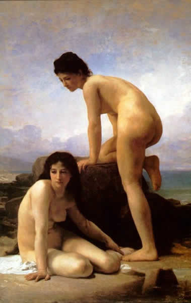 the bathers - Painting ©1874 by William Bouguereau -